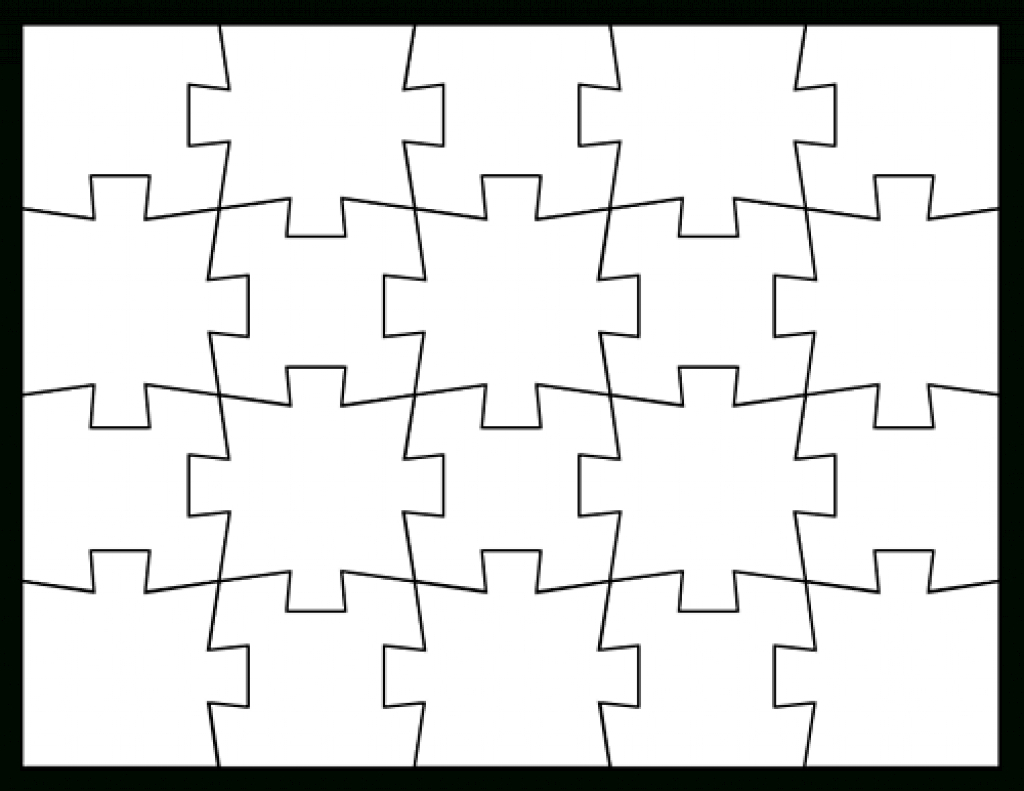 Blank Jigsaw Puzzle Templates | Make Your Own Jigsaw Puzzle For Free - Make Your Own Puzzle Free Printable