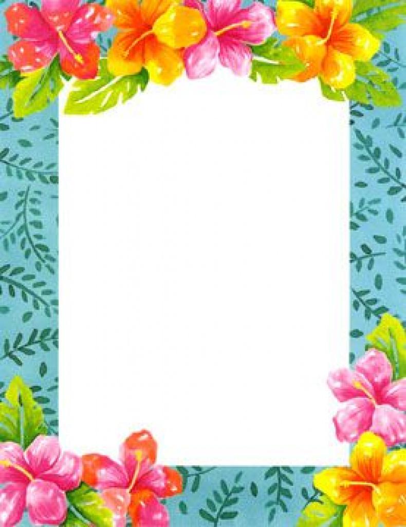 Blank Luau Invitation Borders - Google Search   Luau Party Inside - Free Printable Luau Clipart
