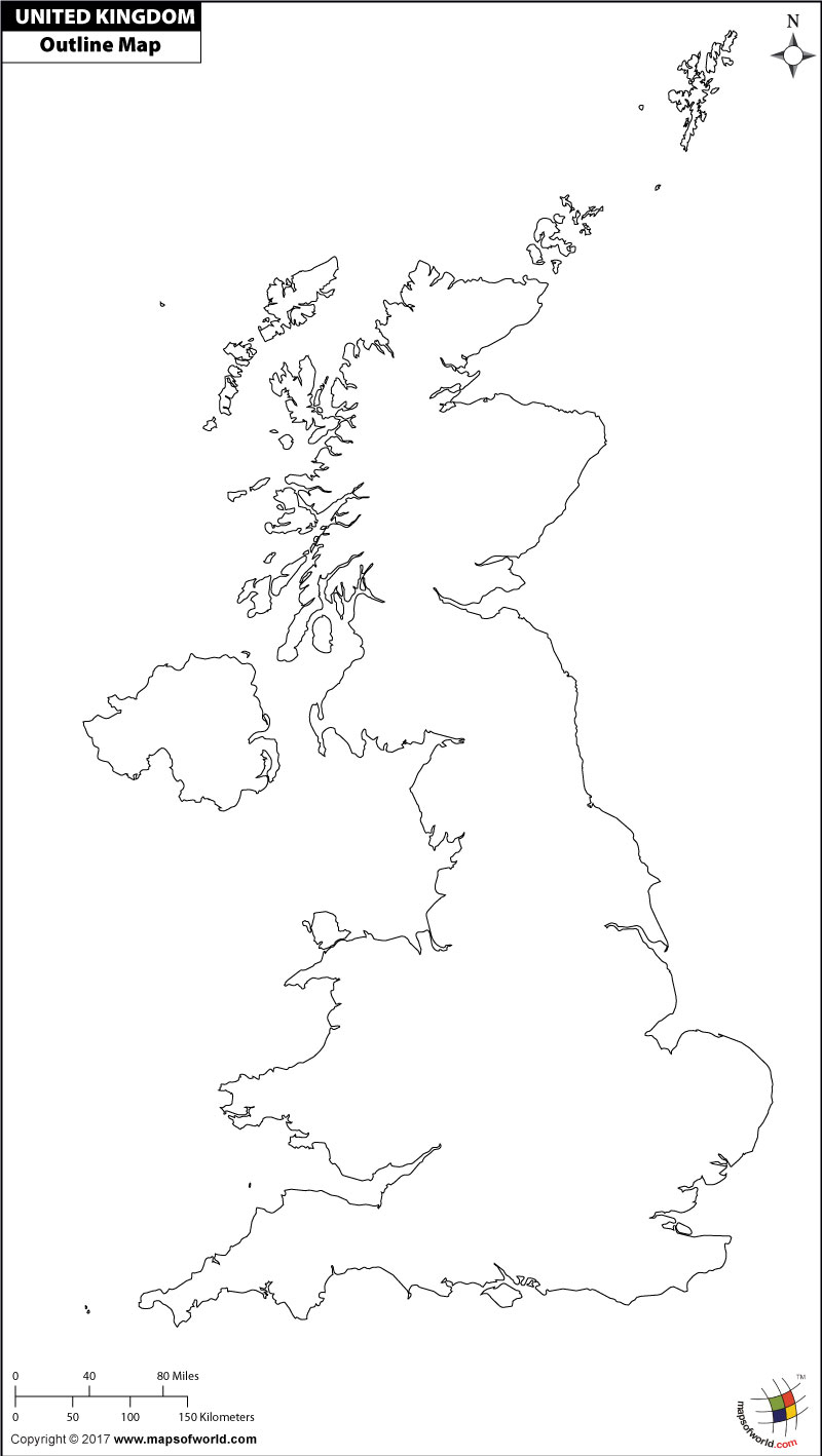 Blank Map Of Uk | Outline Map Of Uk - Free Printable Map Of Uk And Ireland