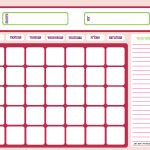 Blank Month Calendar   Pinks   Free Printable Downloads From   Free Printable Charts And Lists