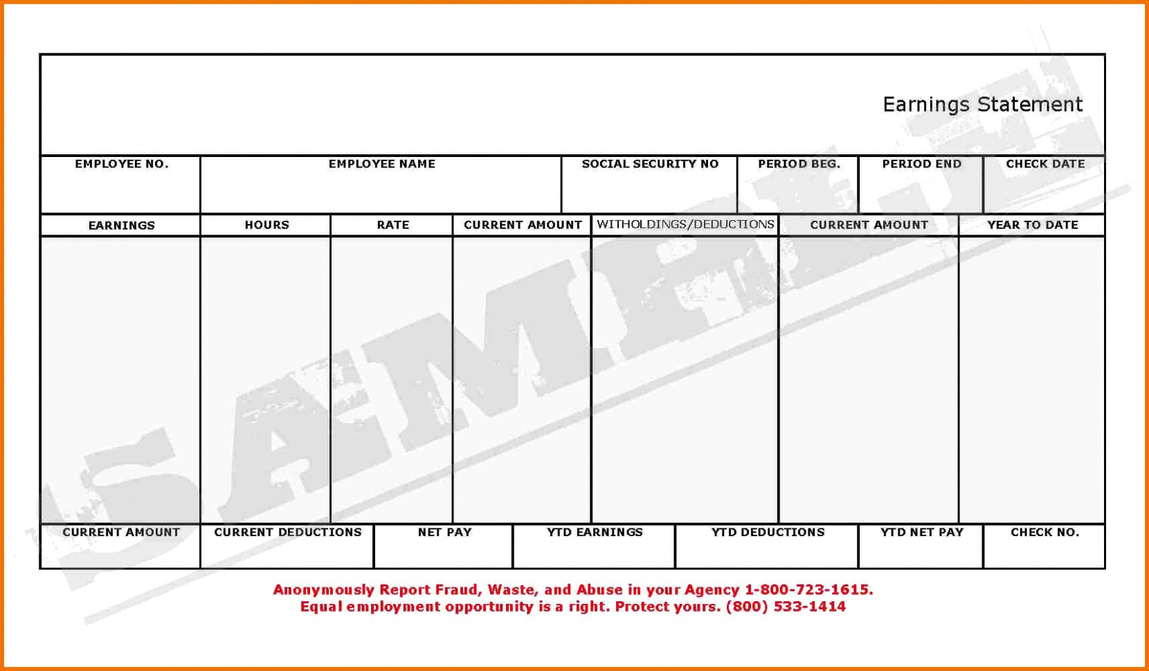 Blank Payroll Checks Download Free Pay Stubs Template Example - Free Printable Blank Check Stubs