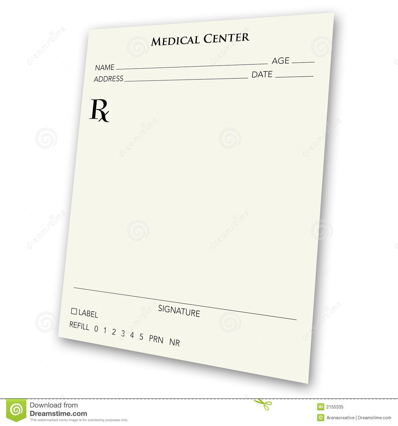 Blank Prescription Pad Stock Illustrations – 295 Blank Prescription - Free Printable Prescription Pad