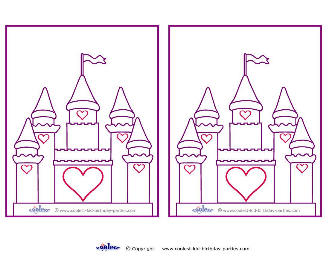 Blank Printable Castle Invitations - Coolest Free Printables   Party - Free Printable Castle Templates