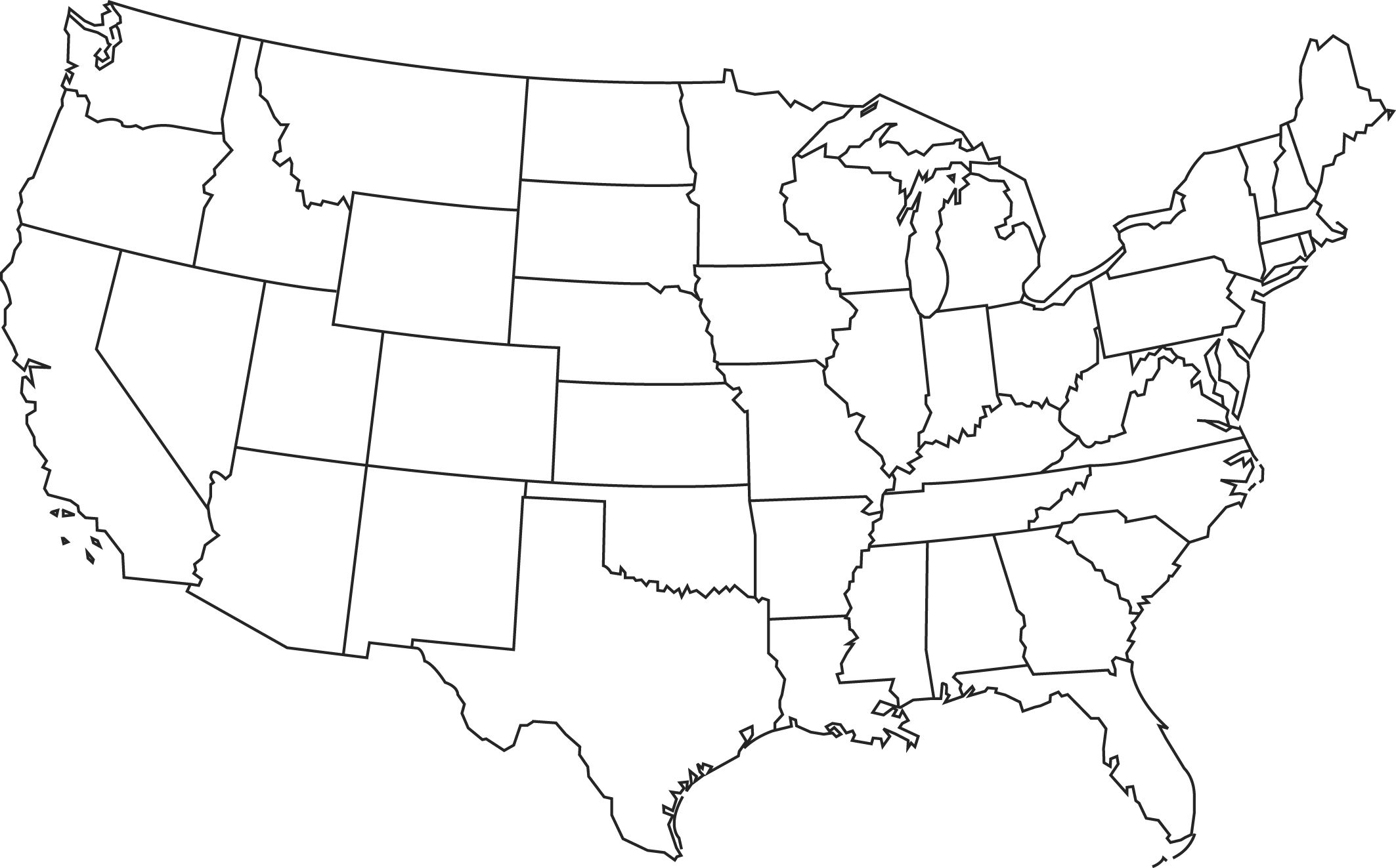 Blank Printable Map Of The Us Clipart Best Clipart Best   Centers - Free Printable Outline Map Of United States