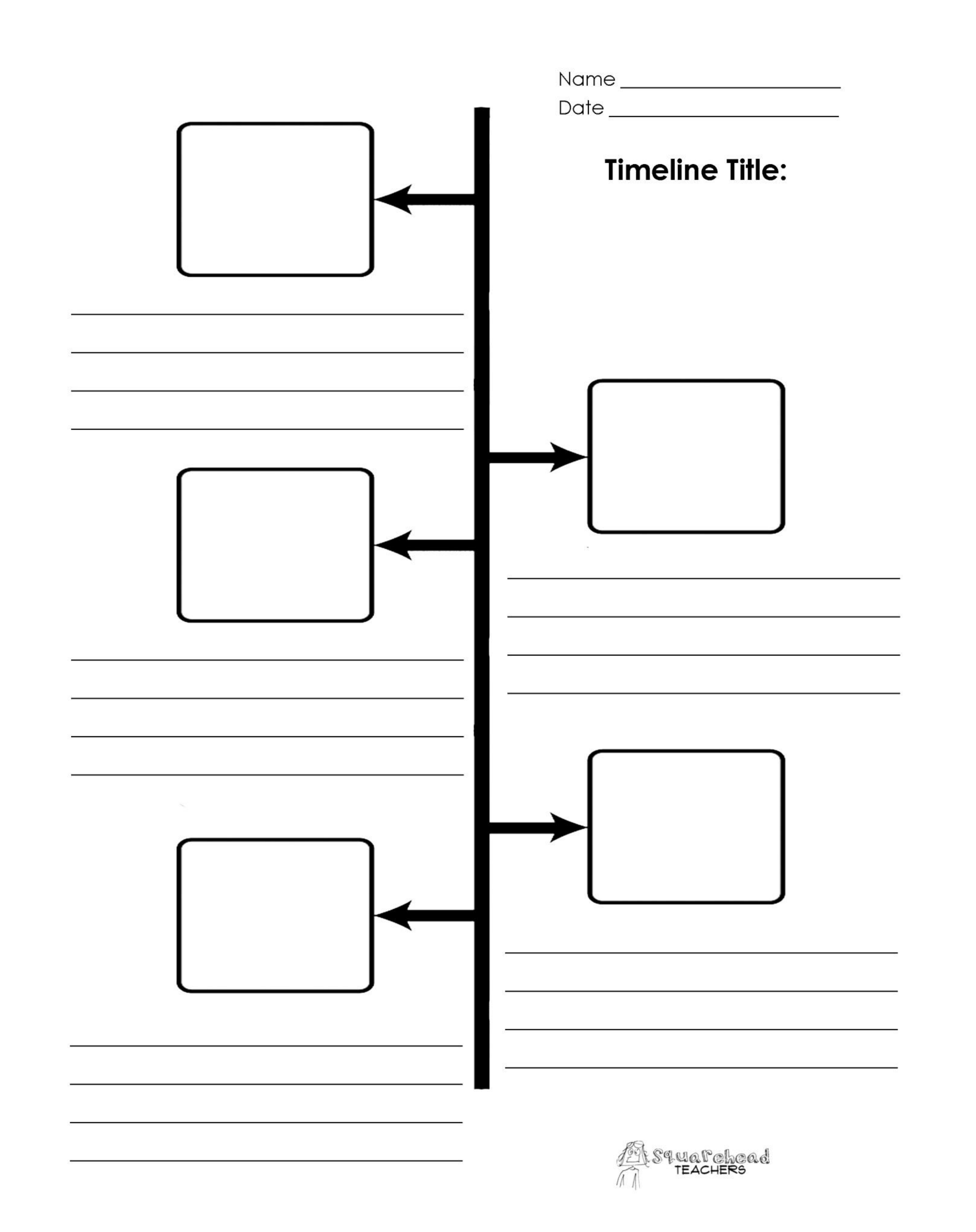 Blank Project Timeline Template Free Download - Free Blank Timeline Template Printable