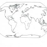 Blank Seven Continents Map | Mr.guerrieros Blog: Blank And Filled In   Free Printable Map Of Continents And Oceans