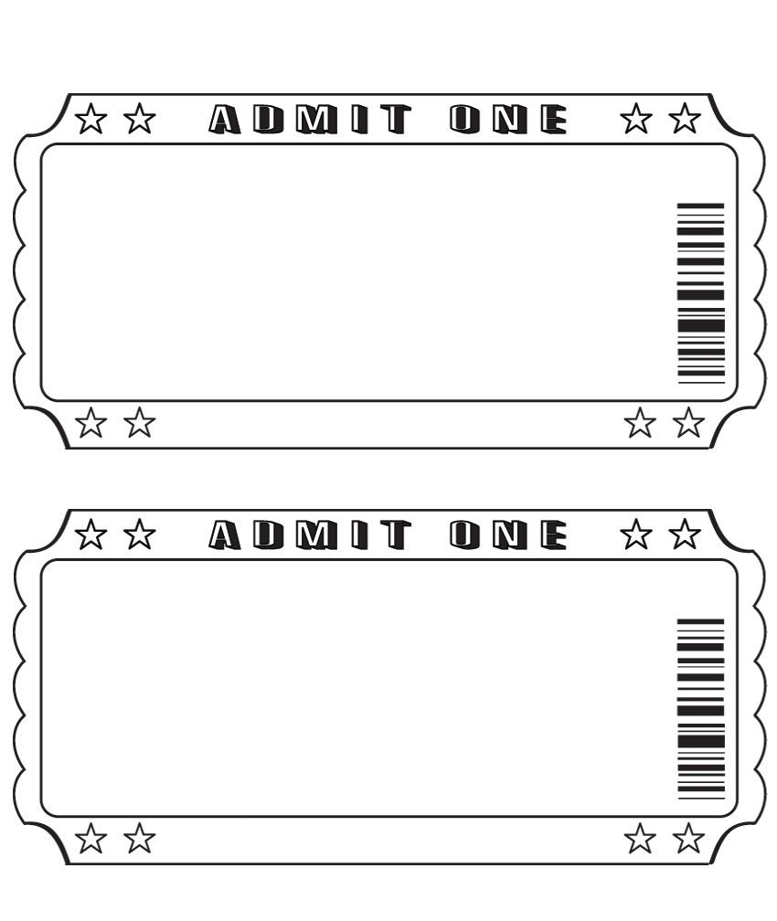 Blank Ticket … | Diy And Crafts | Pinte… - Free Printable Tickets