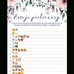 Blush Floral Bridal Shower Emoji Pictionary Game Printable   Wedding Emoji Pictionary Free Printable