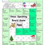 Board Game   Christmas & Santa Worksheet   Free Esl Printable   Free Printable Christmas Board Games