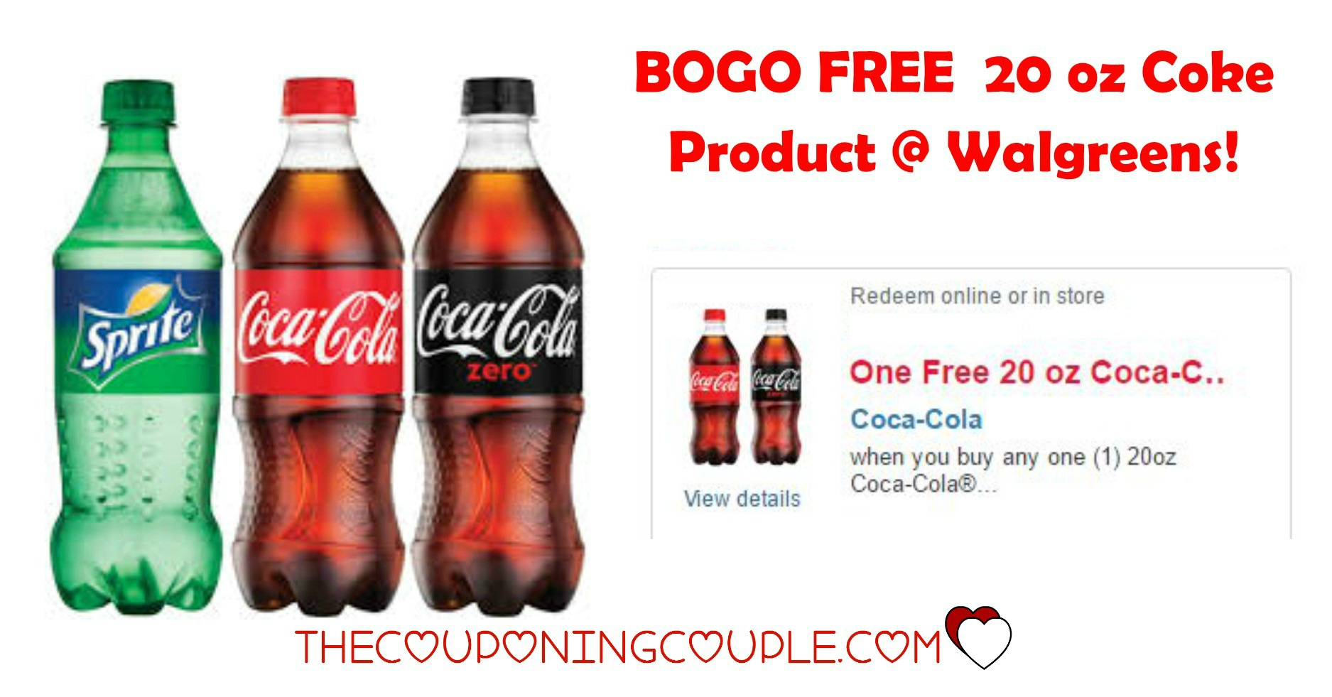 Bogo Free 20 Oz Coke Ecoupon @ Walgreens! Through 8/3! - Free Printable Coupons For Coca Cola Products