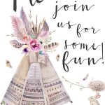 Boho Style Invitation (It's Free!) | Summer Party | Boho, Free   Free Printable Teepee