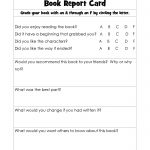 Book Report Cards | Reading | Pinterest | Improve Reading Skills   Free Printable Grade Cards