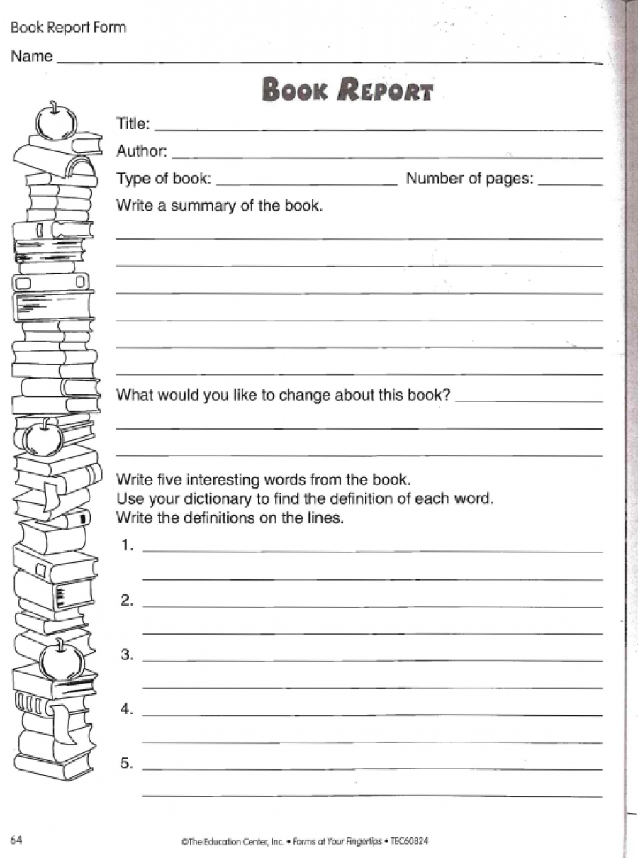 Book Reports For 5Th Graders Free Printable Grade Biography Report - Free Printable Books For 5Th Graders