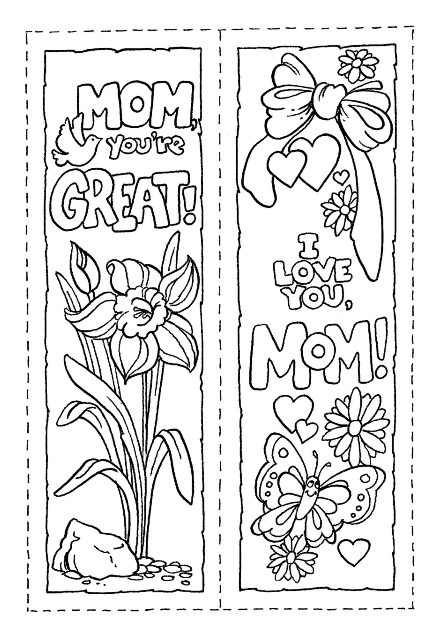 Bookmark (Mother's Day) | Holiday Church Ideas | Pinterest | Mothers - Free Printable Mothers Day Coloring Pages