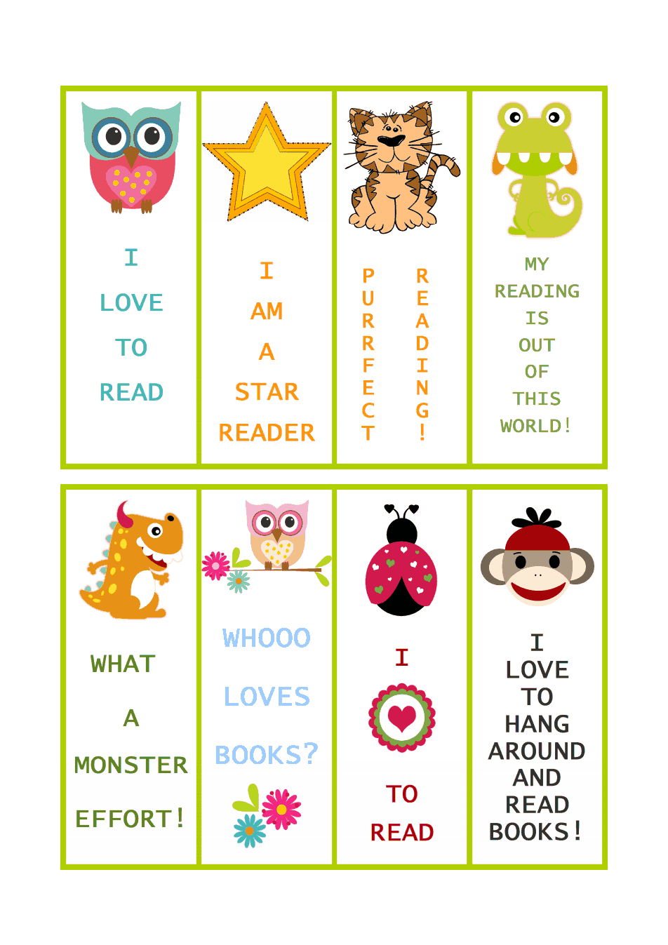 Bookmarks 1.pdf | Teacher | Bookmarks, Bookmarks Kids, Free - Free Printable Bookmarks For Libraries