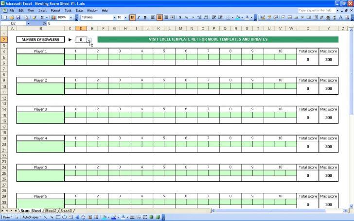 Free Printable Bowling Score Sheets