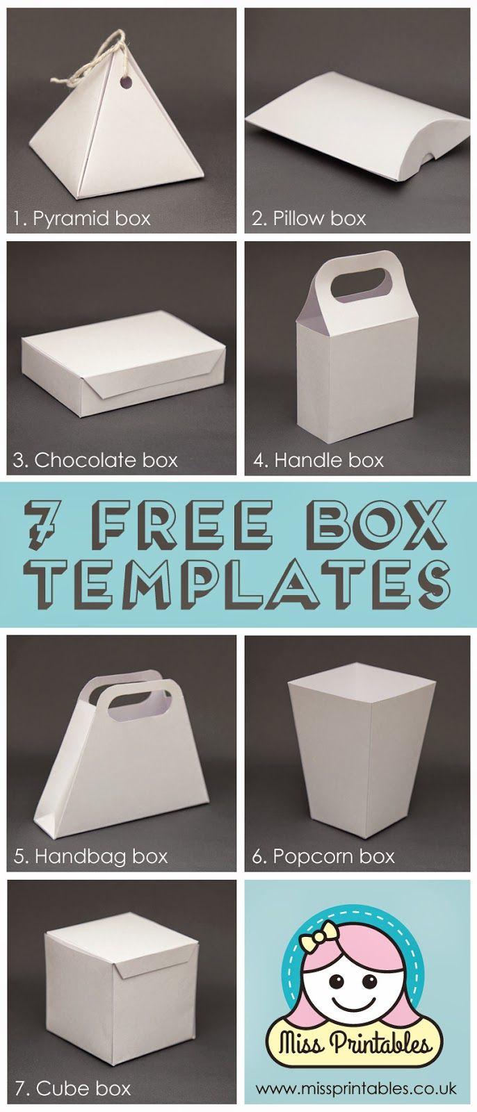 Box Template Free | Templates & Paper Folding | Pinterest | Diy Gift - Gift Box Templates Free Printable
