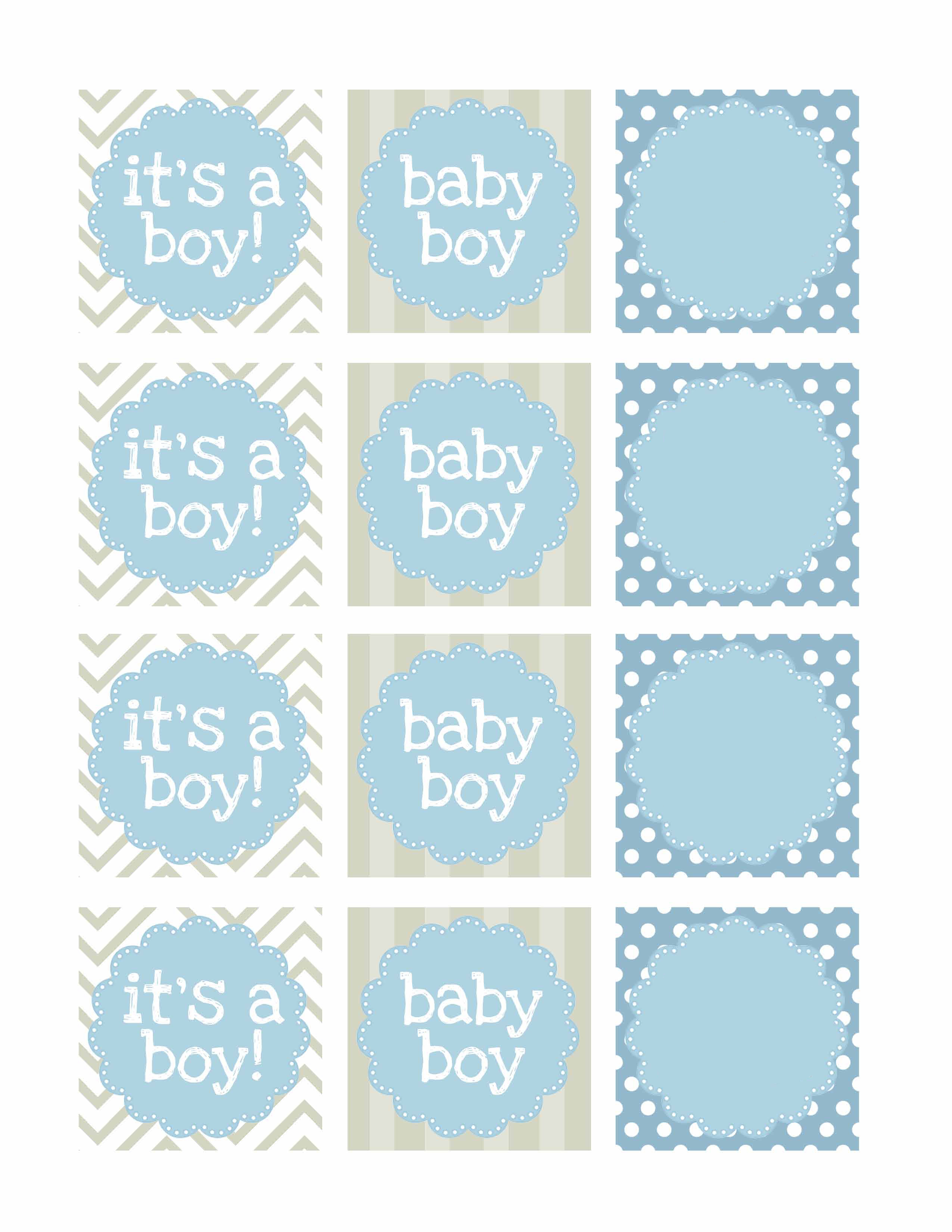 Boy Baby Shower Free Printables - How To Nest For Less™ - Baby Shower Bunting Free Printable