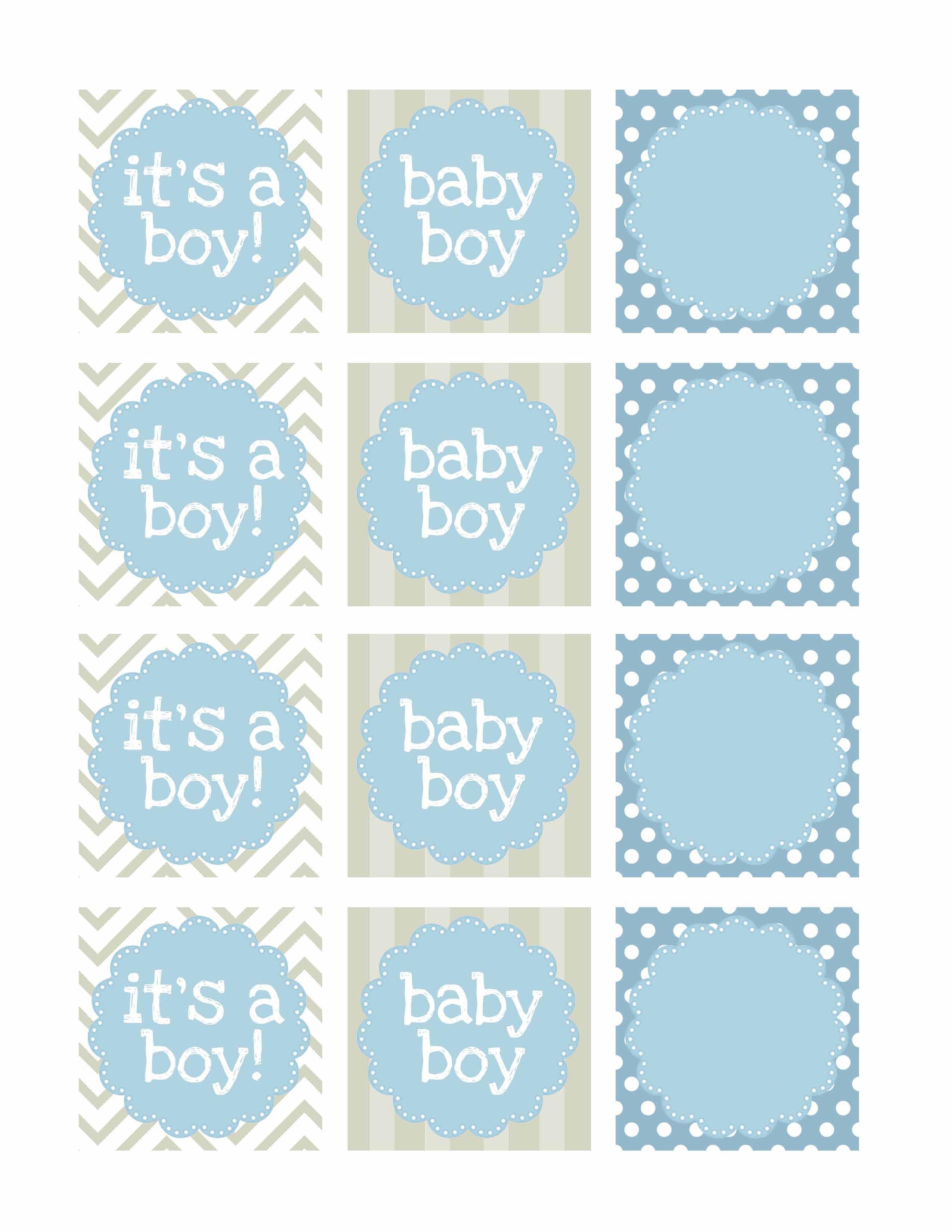 Boy Baby Shower Free Printables   Printable   Návody, Nápady, Tisk - Free Printable Baby Shower Labels And Tags