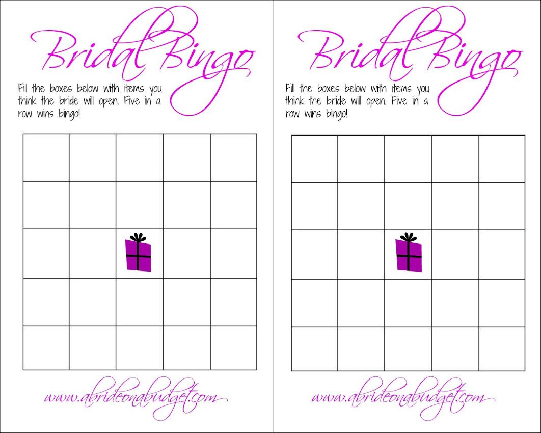 Bridal Bingo (And A Free Printable) | A Bride On A Budget - Free Printable Bridal Shower Bingo