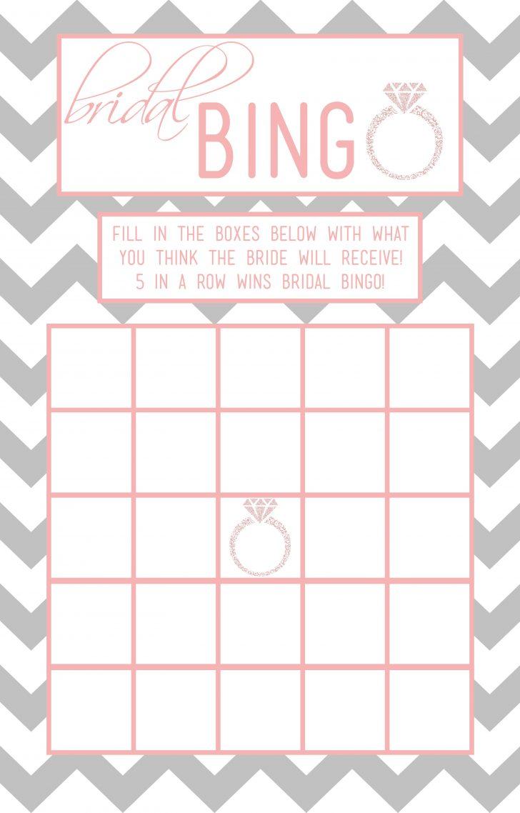 Free Printable Bridal Shower Blank Bingo Games