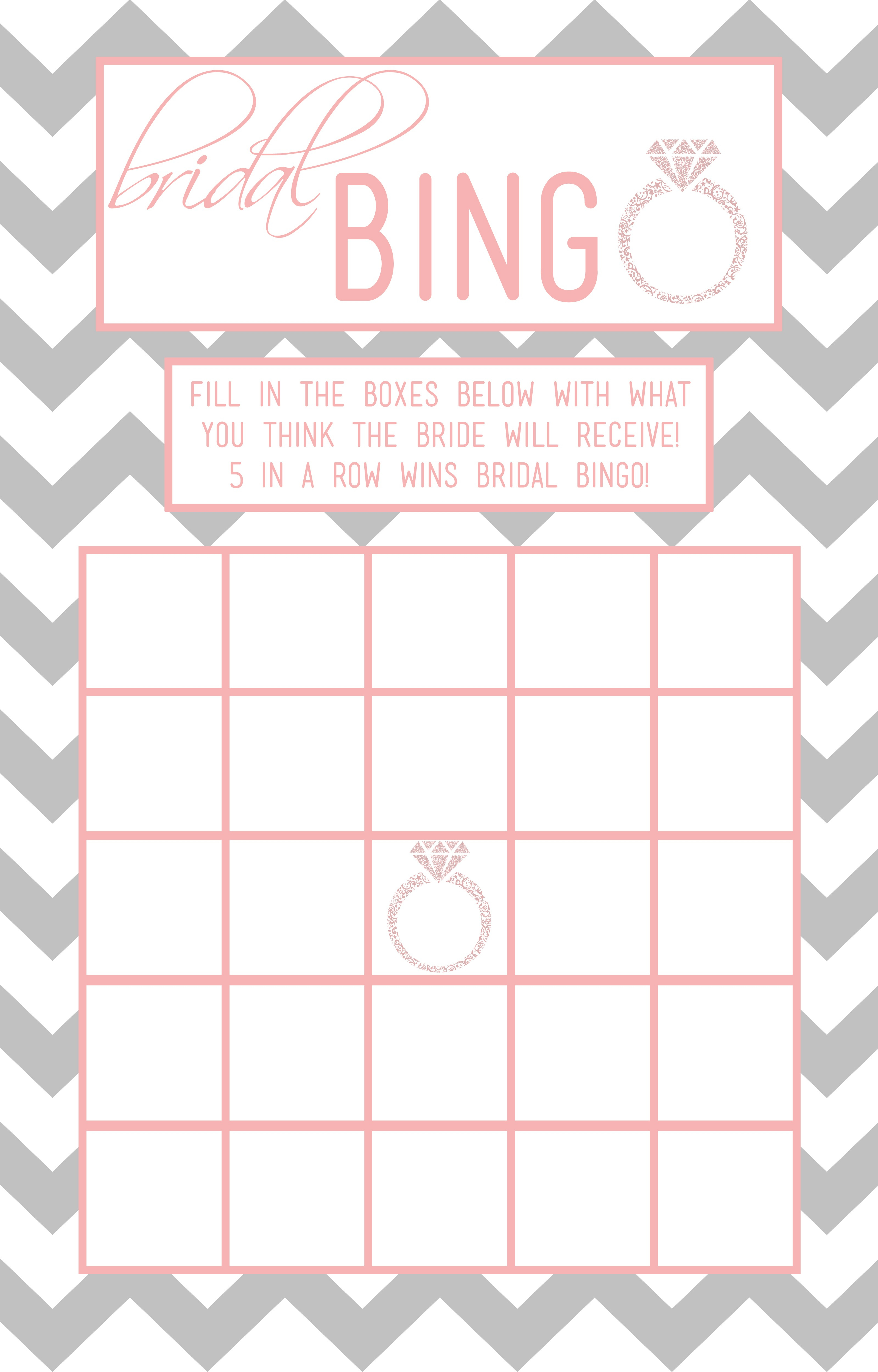 Bridal Bingo Template – 28 Images – Free Printable Bridal Shower - Free Printable Bridal Shower Blank Bingo Games