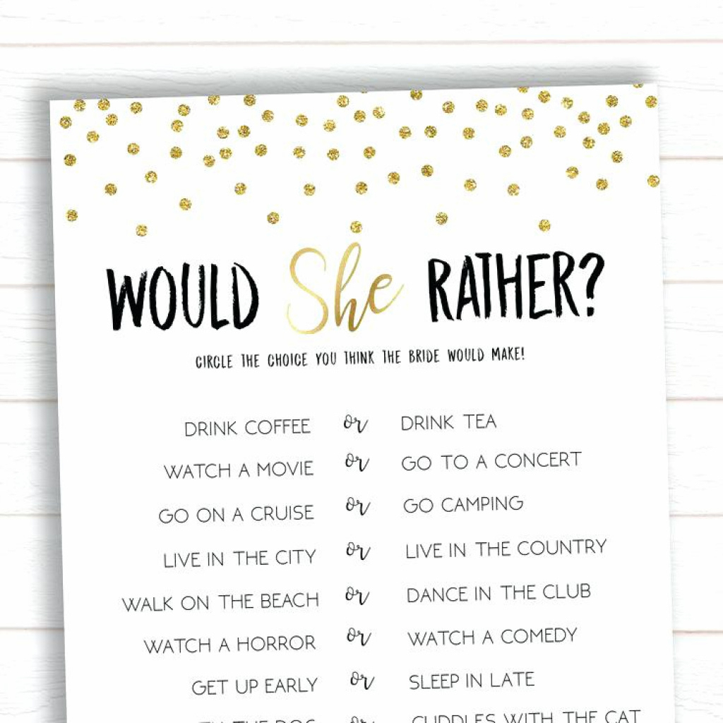 Bridal Shower Game Ideas Free Printable How Well Do You Know The - How Well Do You Know The Bride Game Free Printable