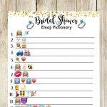 Bridal Shower Pictionary Emoji Game. Bridal Shower Game | Shower   Wedding Emoji Pictionary Free Printable
