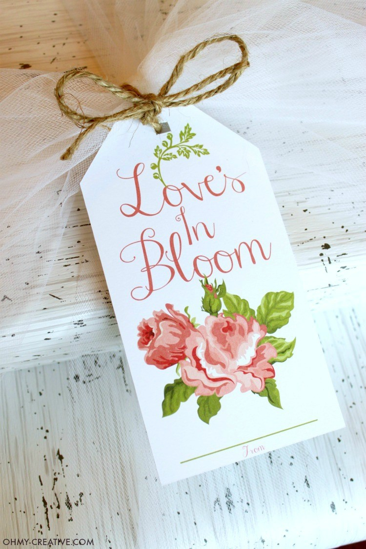 Bridal Shower Printable Gift Tag - Oh My Creative - Free Printable Wedding Thank You Tags