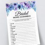 Bridal Word Scramble, Bridal Shower Games Printables, Bridal Shower   Free Printable Bridal Shower Games Word Scramble