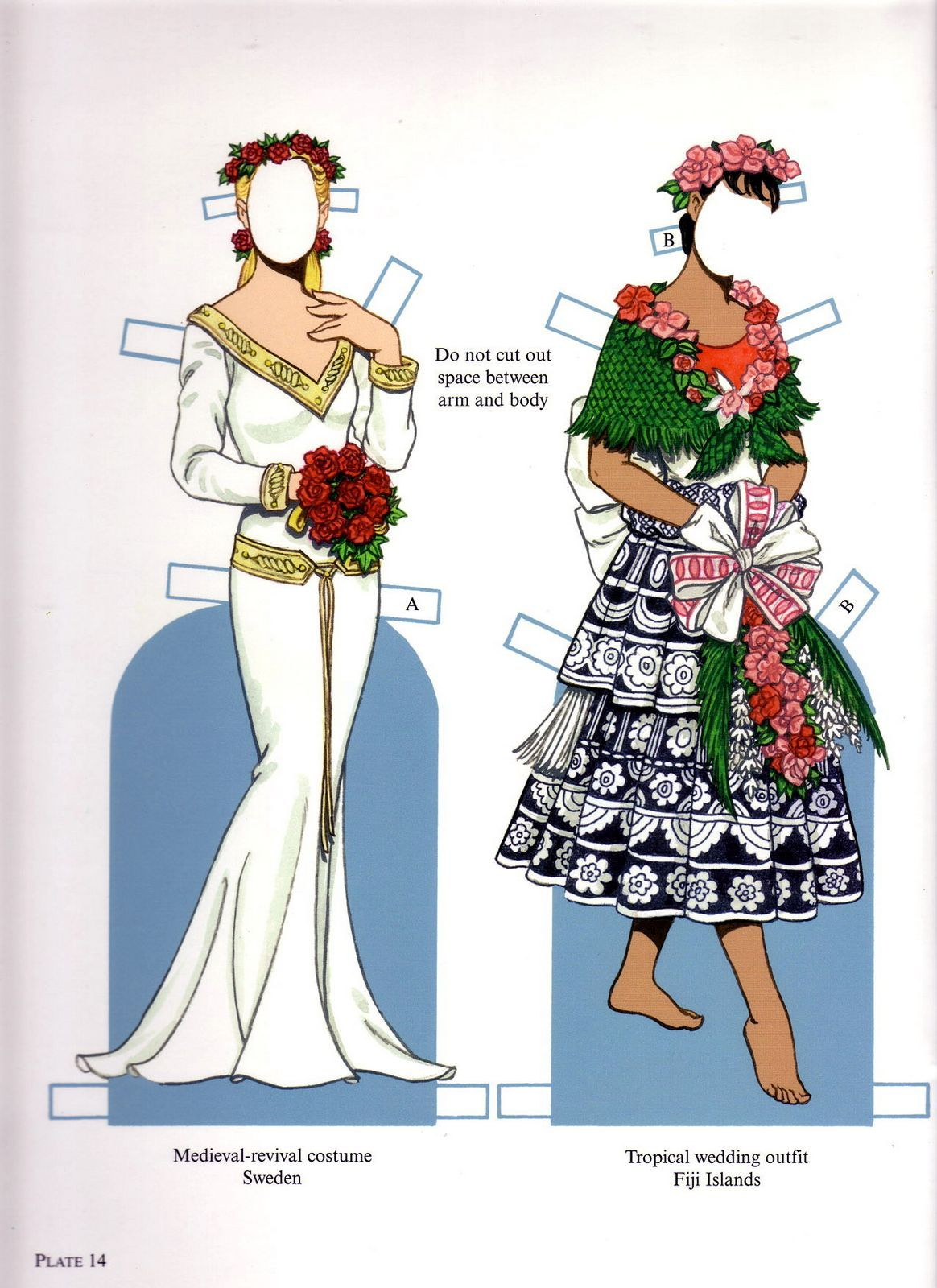Brides From Around The World Paper Dollstom Tierney, Dover - Free Printable Paper Dolls From Around The World