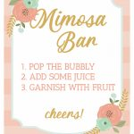 Brunch And Mimosas Party Ideas   Strawberry Blondie Kitchen   Free Printable Mimosa Bar Sign