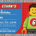 Building Blocks Birthday Party Invitation Legoaprintaffair   Lego Party Invitations Printable Free