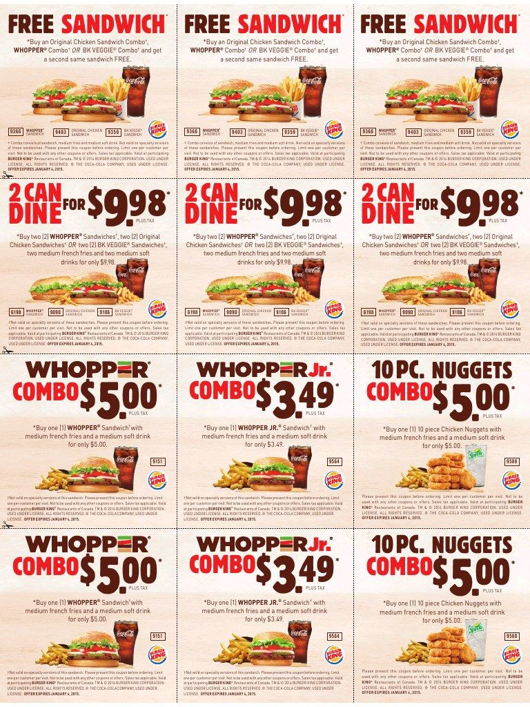 Burger King Printable Coupons Expire January 4 2015 | Places To - Free Printable Nicotine Patch Coupons