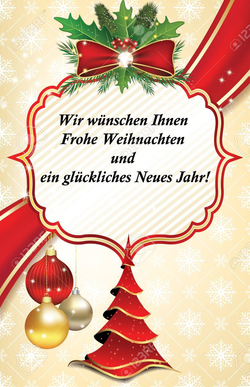 Business Greeting Card For The Year With Text In German Language - Free Printable German Christmas Cards