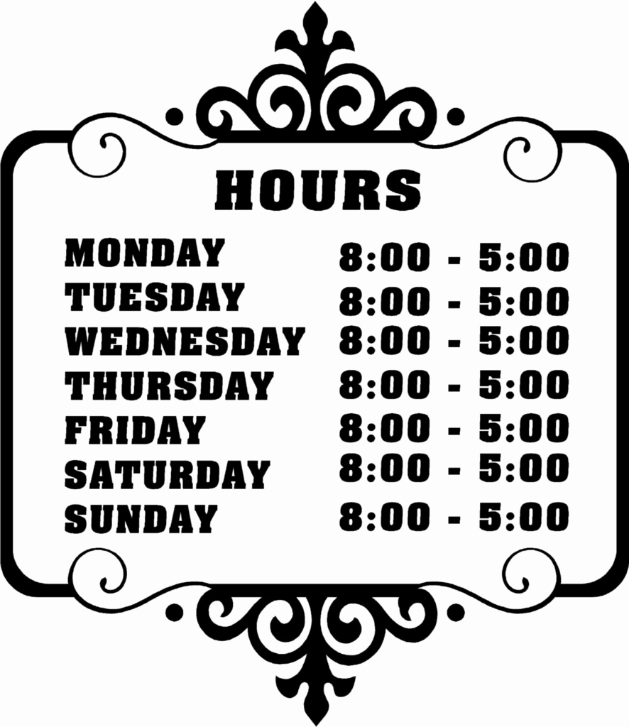 Business Hours Template Microsoft Word Unique Printable Business - Free Printable Business Hours Sign