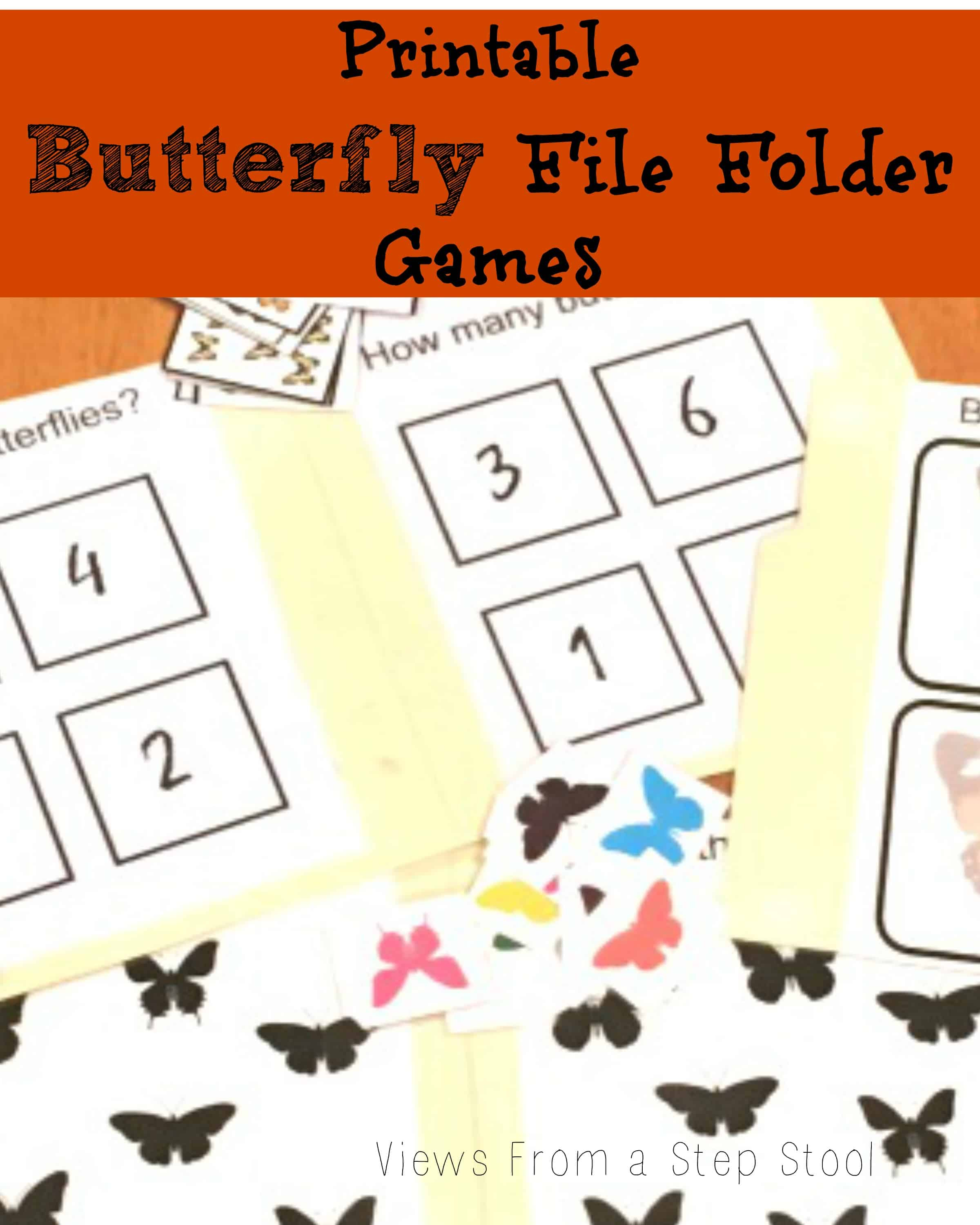 Butterfly File Folder Games: Free Printable! - Views From A Step Stool - Free Printable Fall File Folder Games