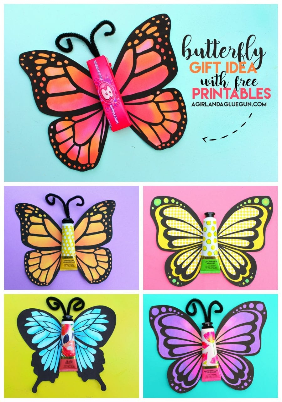 Butterfly Gift With Free Printable. - A Girl And A Glue Gun - Free Printable Butterfly