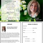 Butterfly Memorial Program | Memorials | Funeral Memorial, Memorial   Free Printable Funeral Prayer Card Template