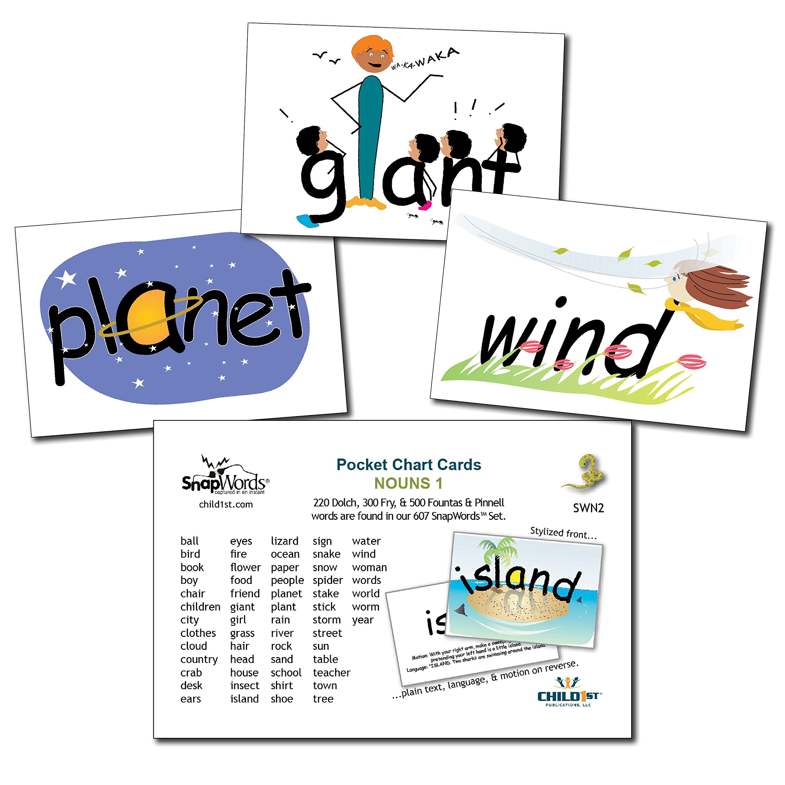 Buy Snapwords® Nouns 1 Pocket Chart Sight Word Cards In Cheap Price - Free Printable Snapwords