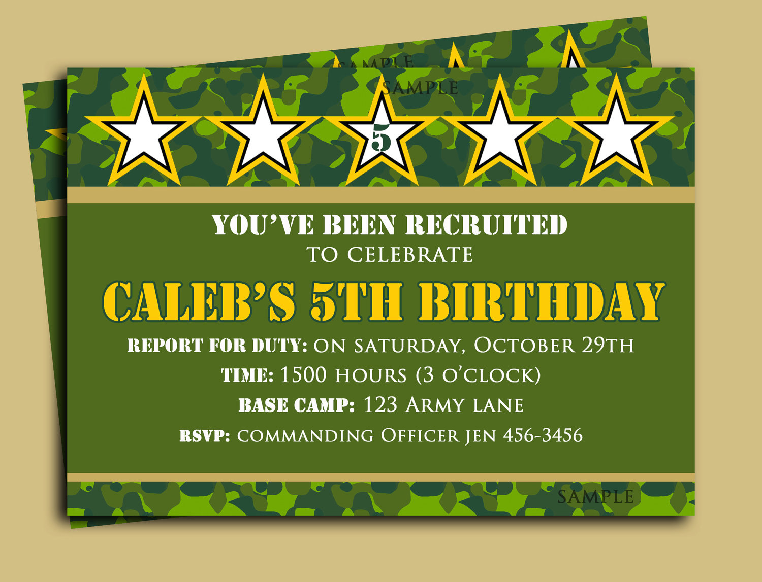 Camouflage Party Custom Invitations Printable - 5.5.kaartenstemp.nl • - Free Printable Camouflage Invitations