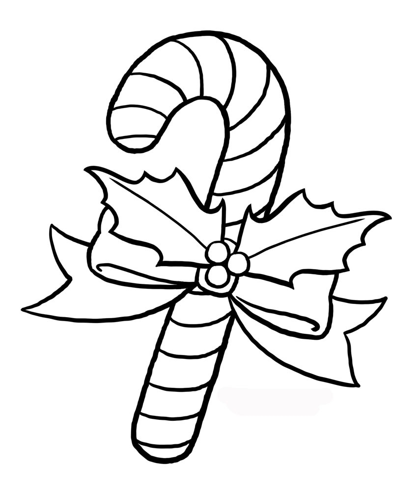 Candy Cane Free Printable Coloring Pages | Art N Craft Ideas, Home - Free Printable Candy Cane