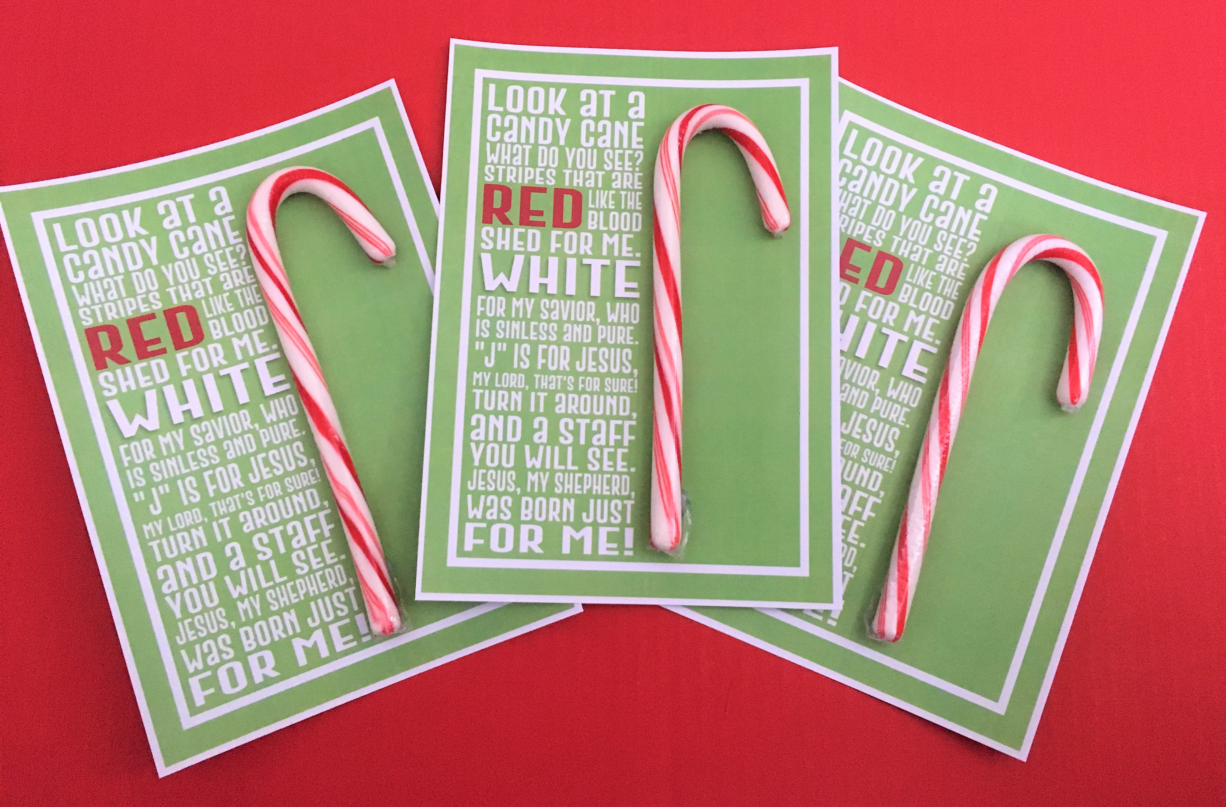 Candy Cane Poem Printable – Deeper Kidmin - Free Printable Candy Cane Poem