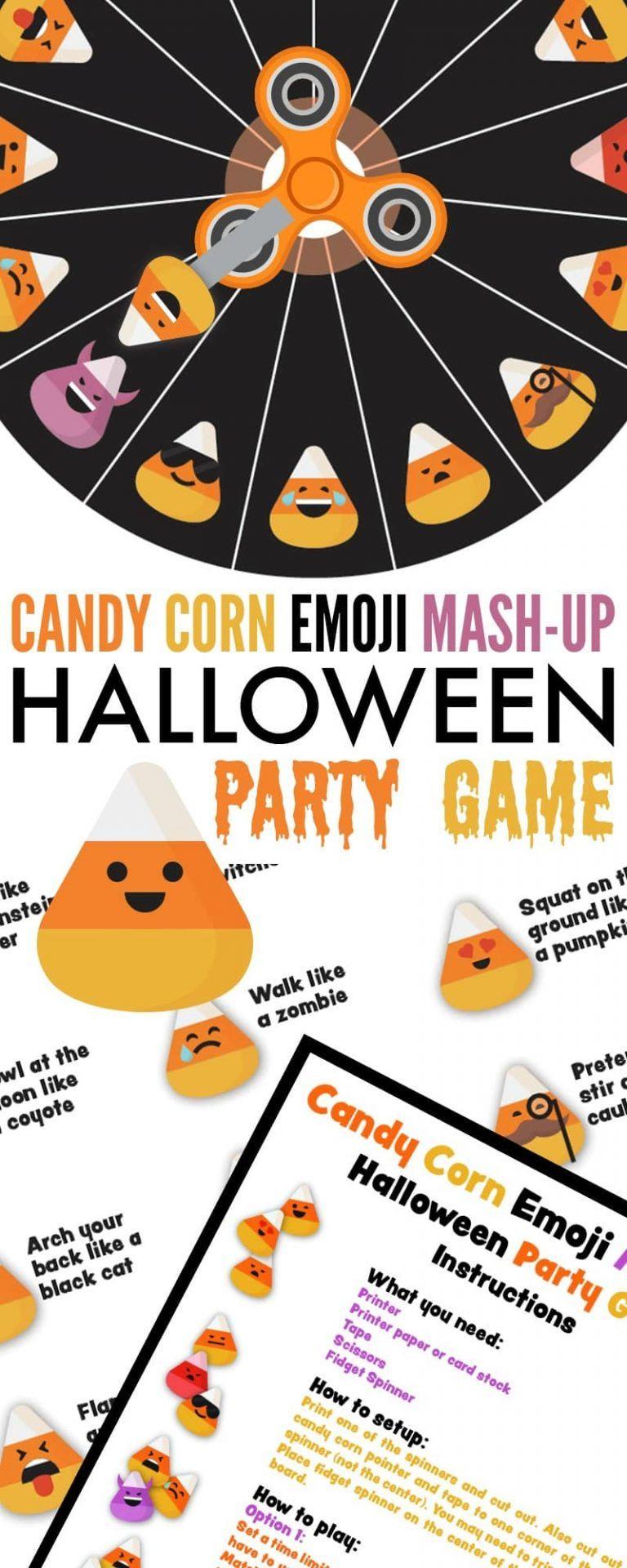 Candy Corn Emoji Mash-Up Halloween Party Game   School   Halloween - Free Printable Halloween Party Games