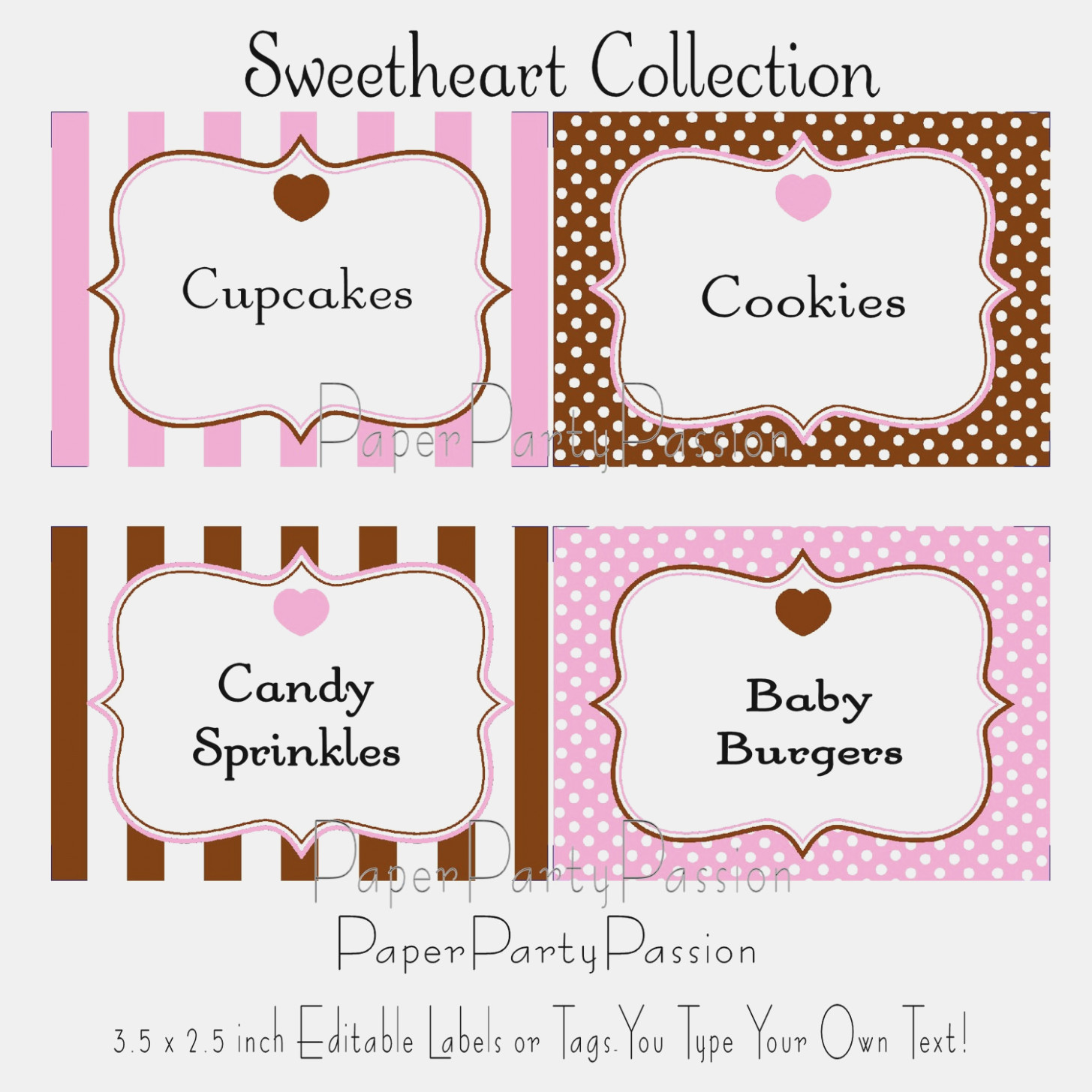 Candy Labels Templates – Keni.candlecomfortzone – Label Maker Ideas - Free Printable Buffet Food Labels