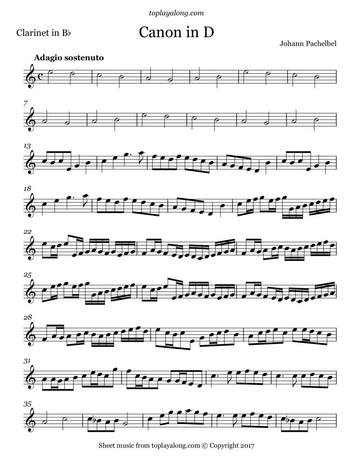 Free Printable Clarinet Music