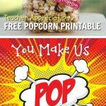 Caramel Popcorn   Recipe   Gift Ideas   Pinterest   Teacher   Free Popcorn Teacher Appreciation Printable