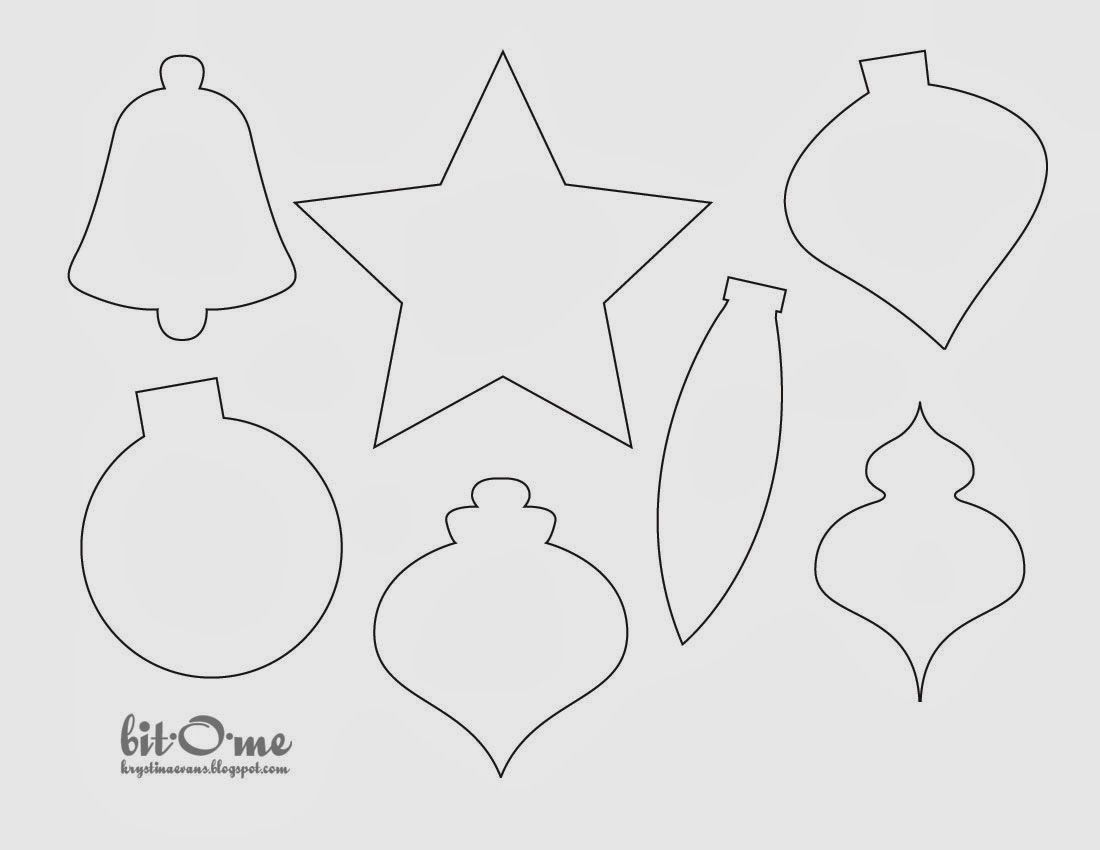Carta Modello | Felt | Pinterest | Felt Christmas, Christmas And - Free Printable Christmas Ornaments Stencils
