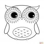 Cartoon Owl Coloring Page | Free Printable Coloring Pages   Free Printable Owl Coloring Sheets