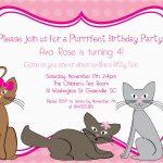 Cat Birthday Invitations Printables | Birthdaybuzz – Free Printable Kitten Birthday Invitations